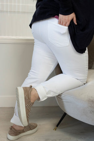 Load image into Gallery viewer, WHITE DENIM STRETCH SKINNY