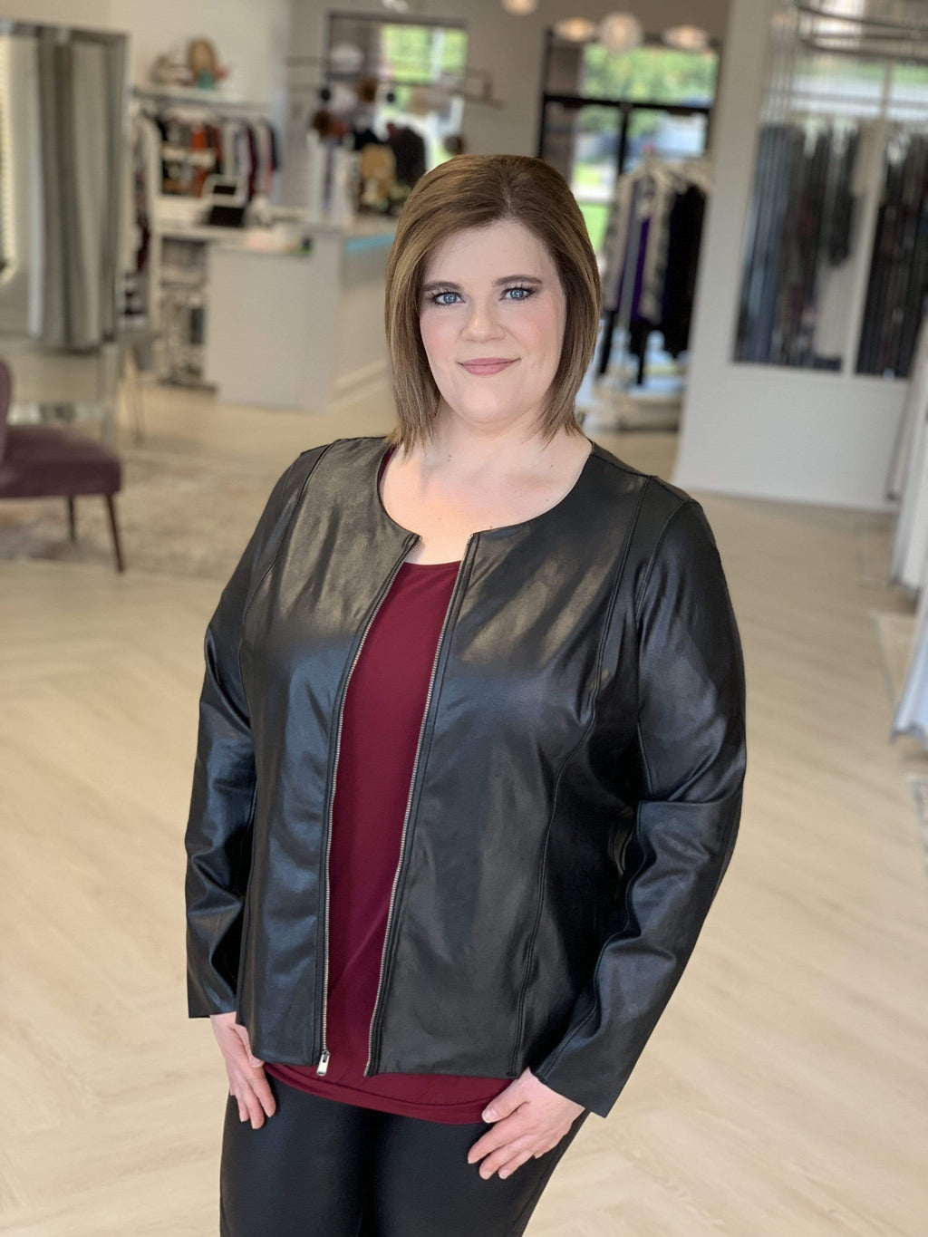 Spanx© FAUX LEATHER JACKET
