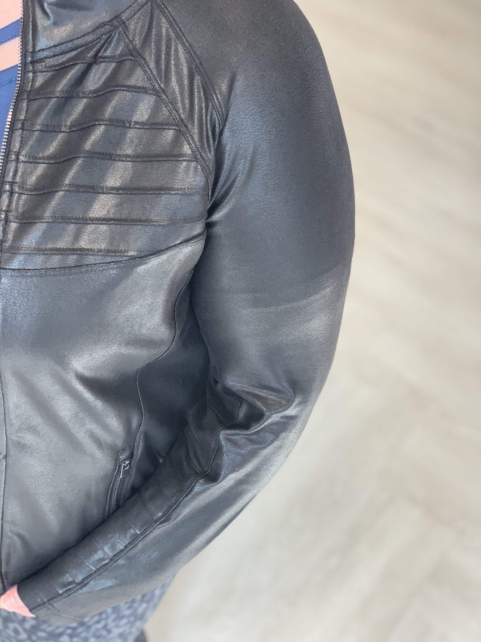 Spanx© FAUX LEATHER MOTO JACKET