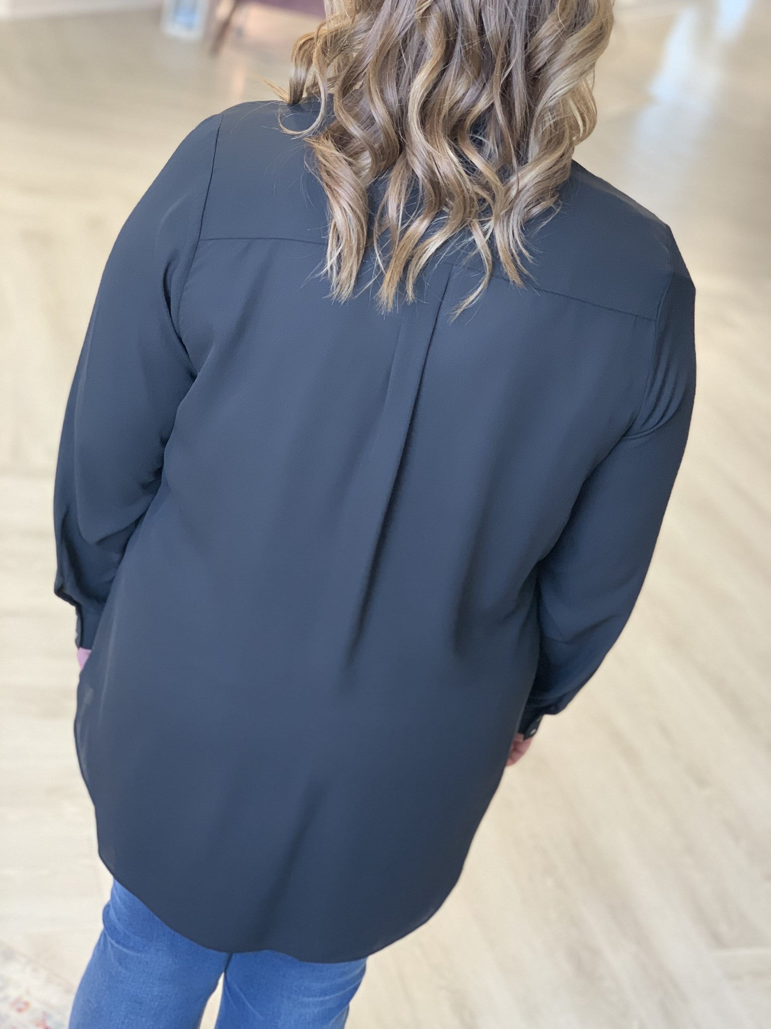 WRAP BLOUSE WITH ZIPPER