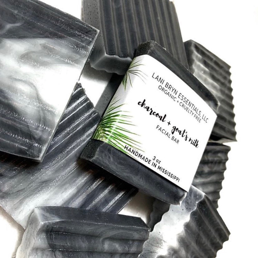 Charcoal & Goats Milk Facial Bar