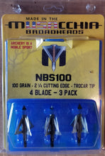 Load image into Gallery viewer, [Distributor] 1 case of 4 Blade 100gr Hunting Replacement Blades 6pks/case