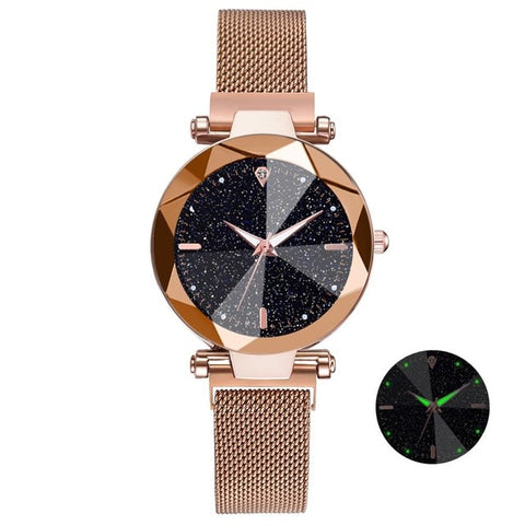 2019 Luxury Watch Women Starry Sky Design Quartz Watches For Women Mesh Magnet Casual Watches Relogio Feminino Ladies Clock