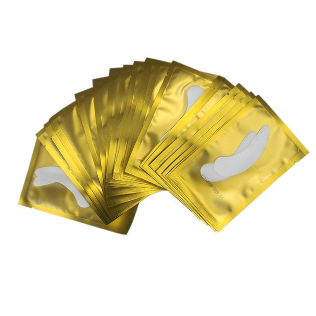 200 pairs Eyelash Extension Paper Patches Grafted Eye Lashes Stickers Eyelash Under Eye Pads Eye Tips Sticker Wraps Makeup Tools