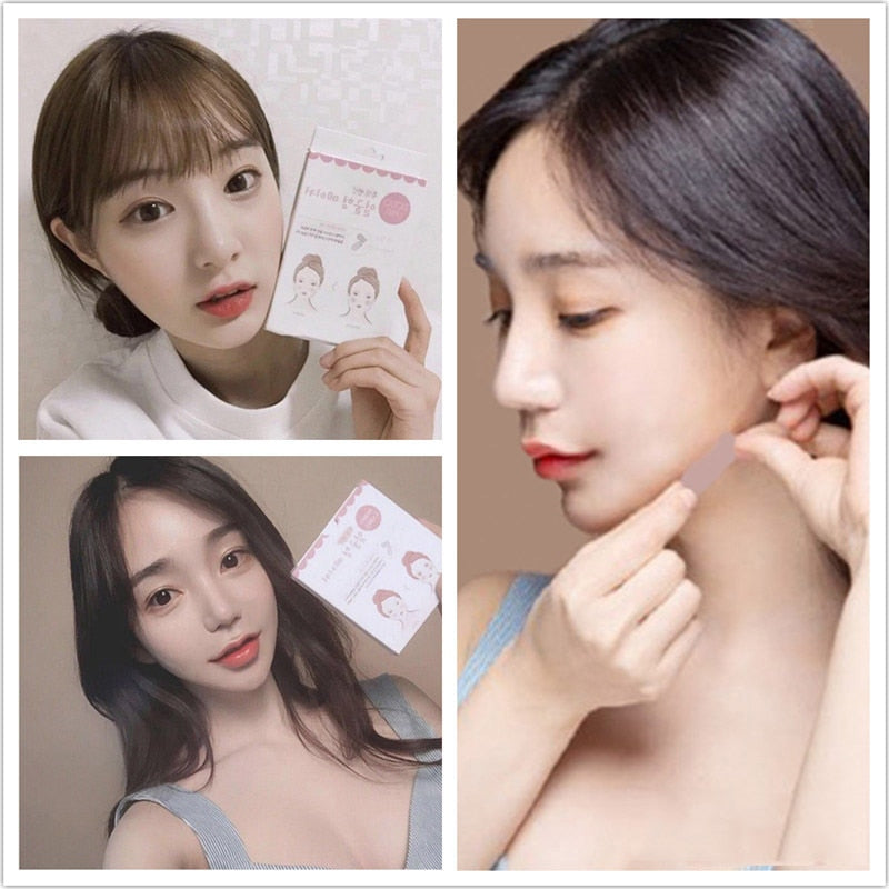 Instant Face Lift and Neck Chin Lift Secret Tapes Facial Slim Anti Wrinkle Sticker V Face Shaper Artifact Invisible Sticker