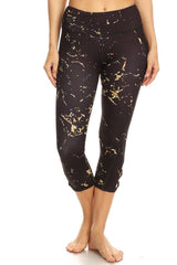 High rise printed legging