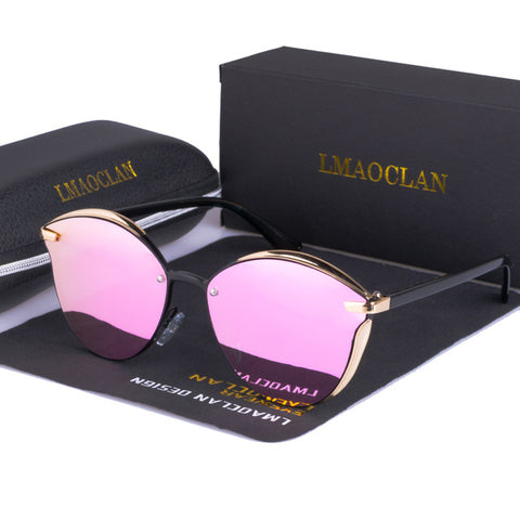 LMAOCLAN Women Polarized Sunglasses Luxury Fashion Cat Eye Ladies Vintage Brand Designer Female Sun Glasses oculos gafas