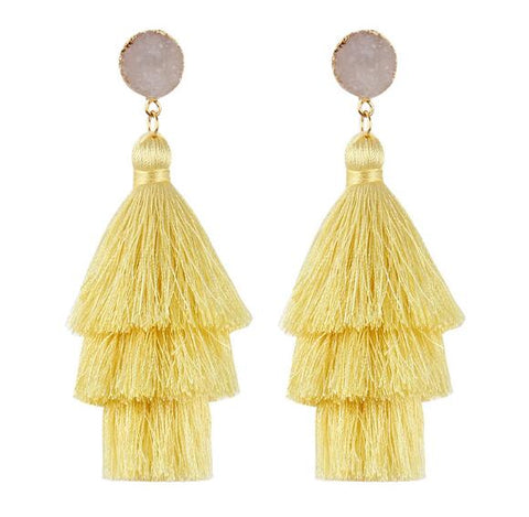 2018 Fashion bohemia long tassel earring for women