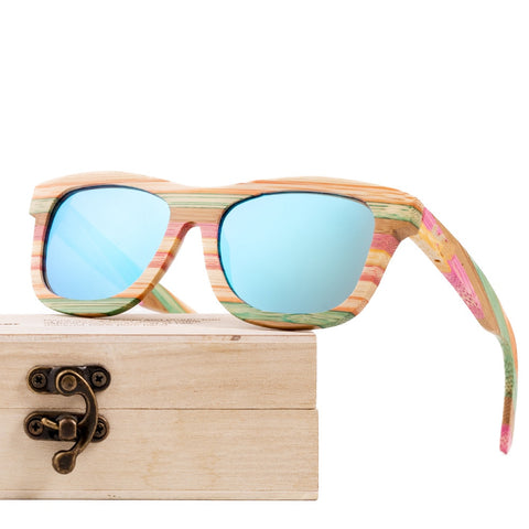 Wooden Sunglasses Women ladies Wood Glasses Bamboo Vintage Polarized Bamboo Sunglasses For Men oculos de sol feminino