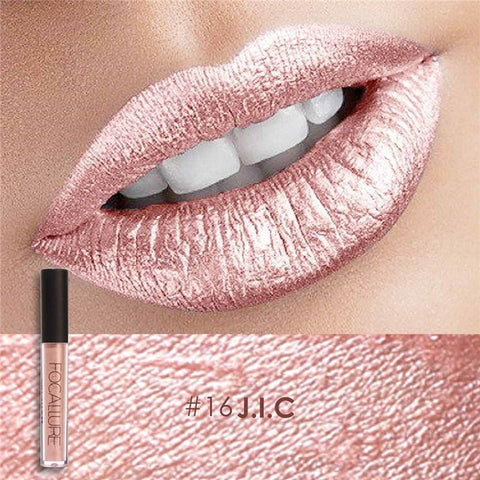 FOCALLURE Matte Liquid Lipstick Waterproof Moisturizer Smooth Lip Stick Long-lasting Lip Tint Cosmetic Lip Makeup