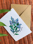 California Lilacs With Sympathy Card