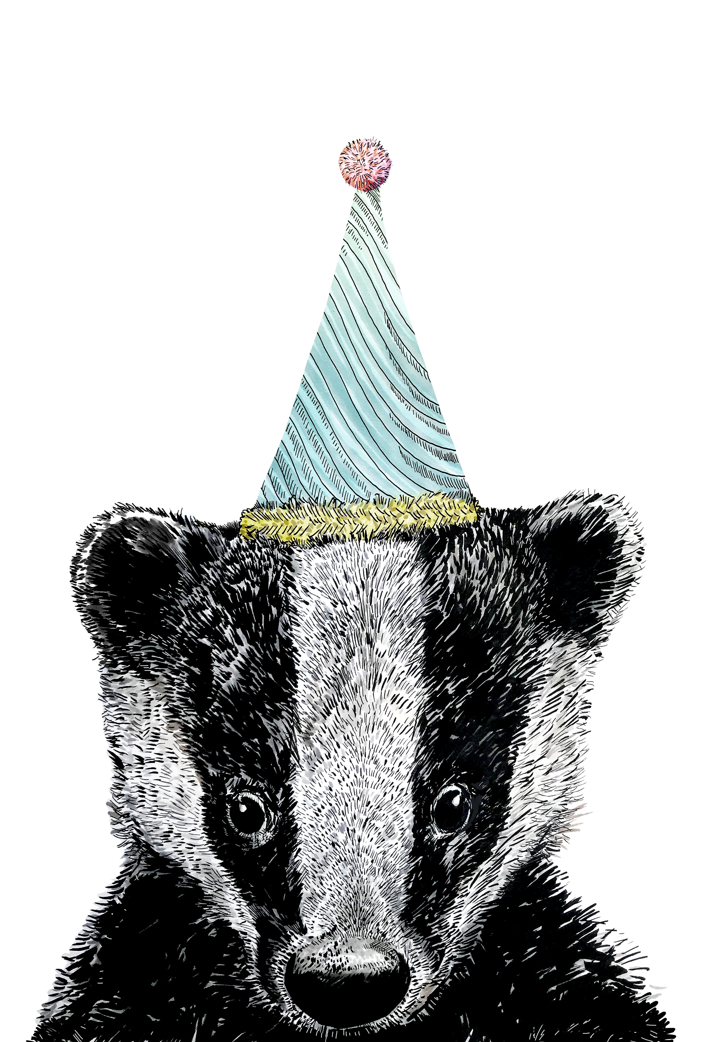 Party Badger Print