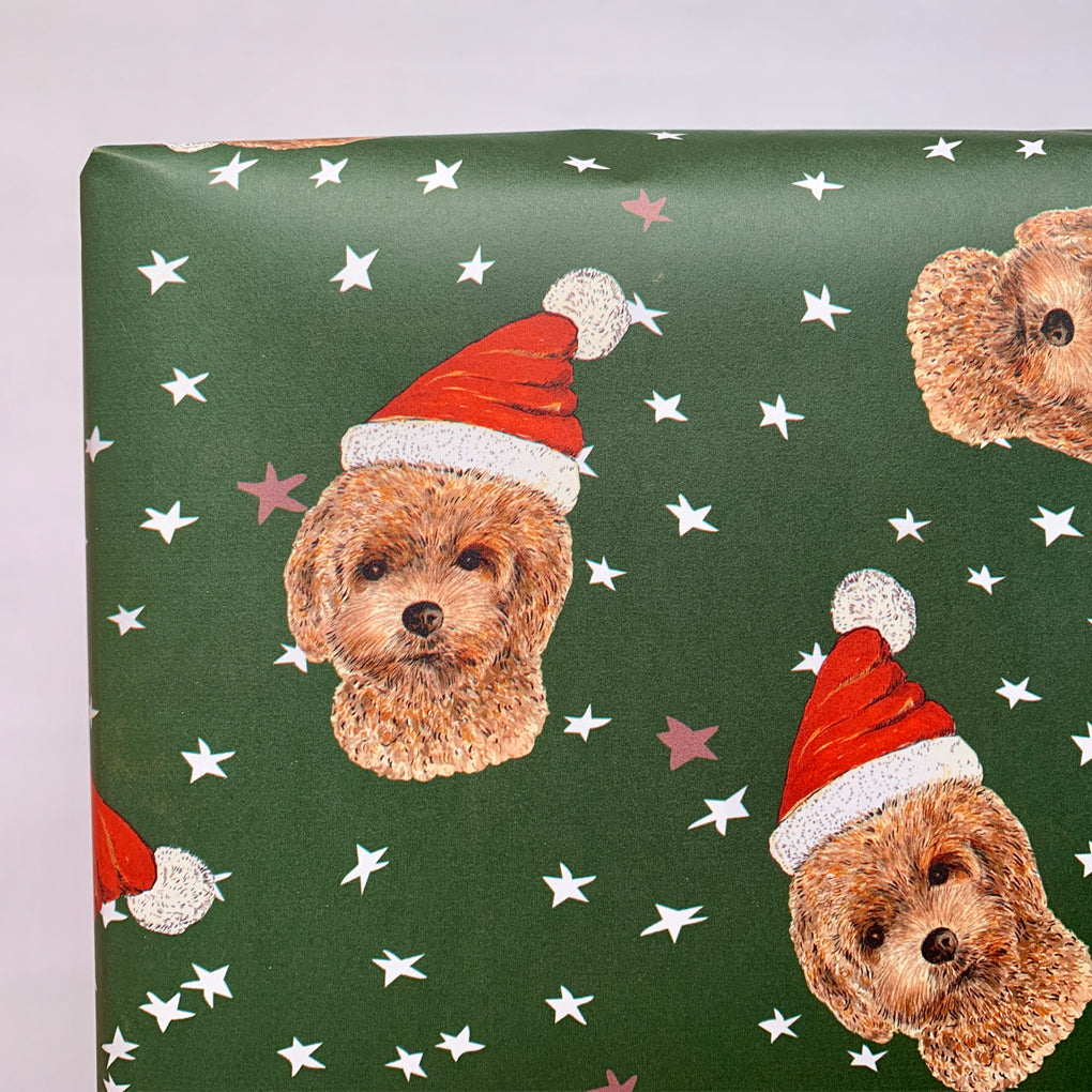Christmas Coco Dog Wrapping Paper Pack