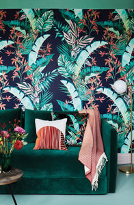 Dartmouth Tropical Deep Ink Set of A&B Wallpaper Rolls