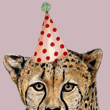 Load image into Gallery viewer, Cheetah On Colour Giclée Print