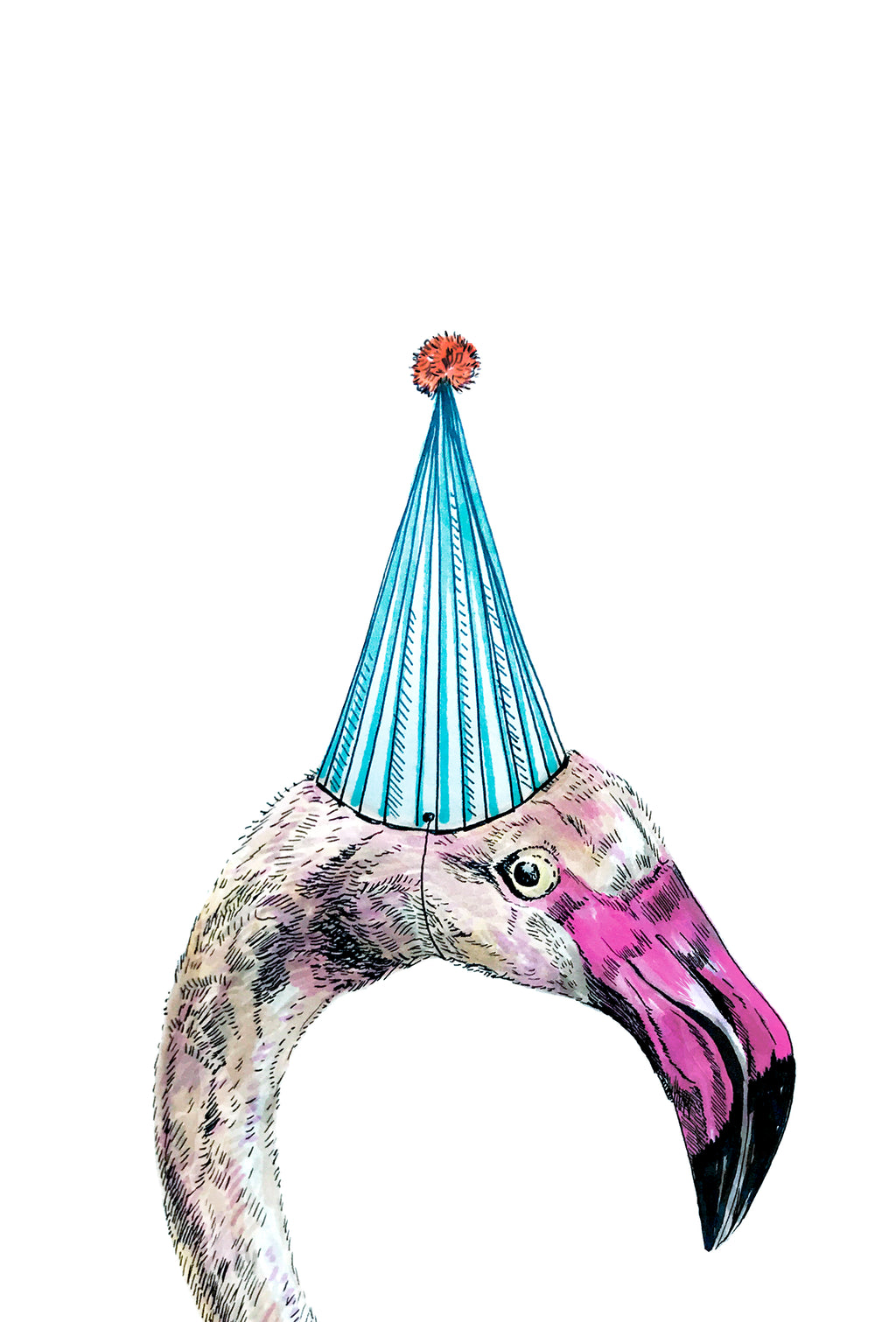 Party Flamingo Print