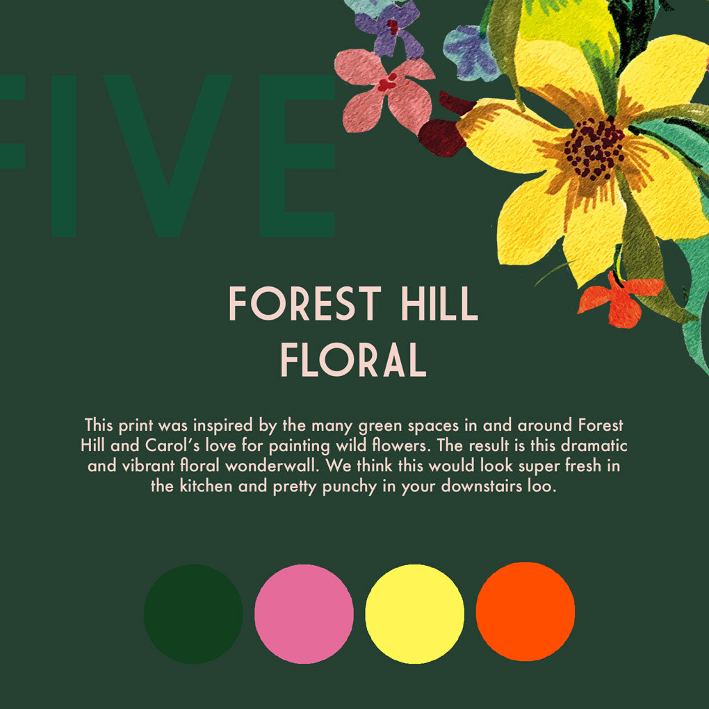 Forest Hill Floral Wallpaper Roll