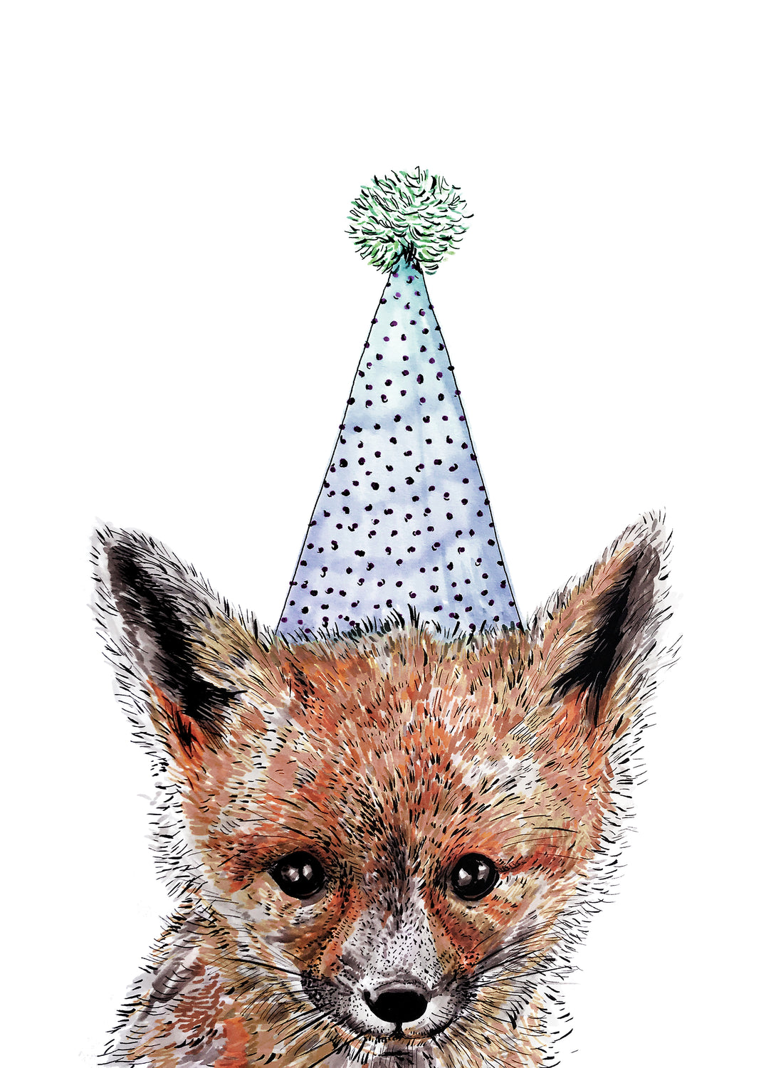 Party Fox Giclée Print