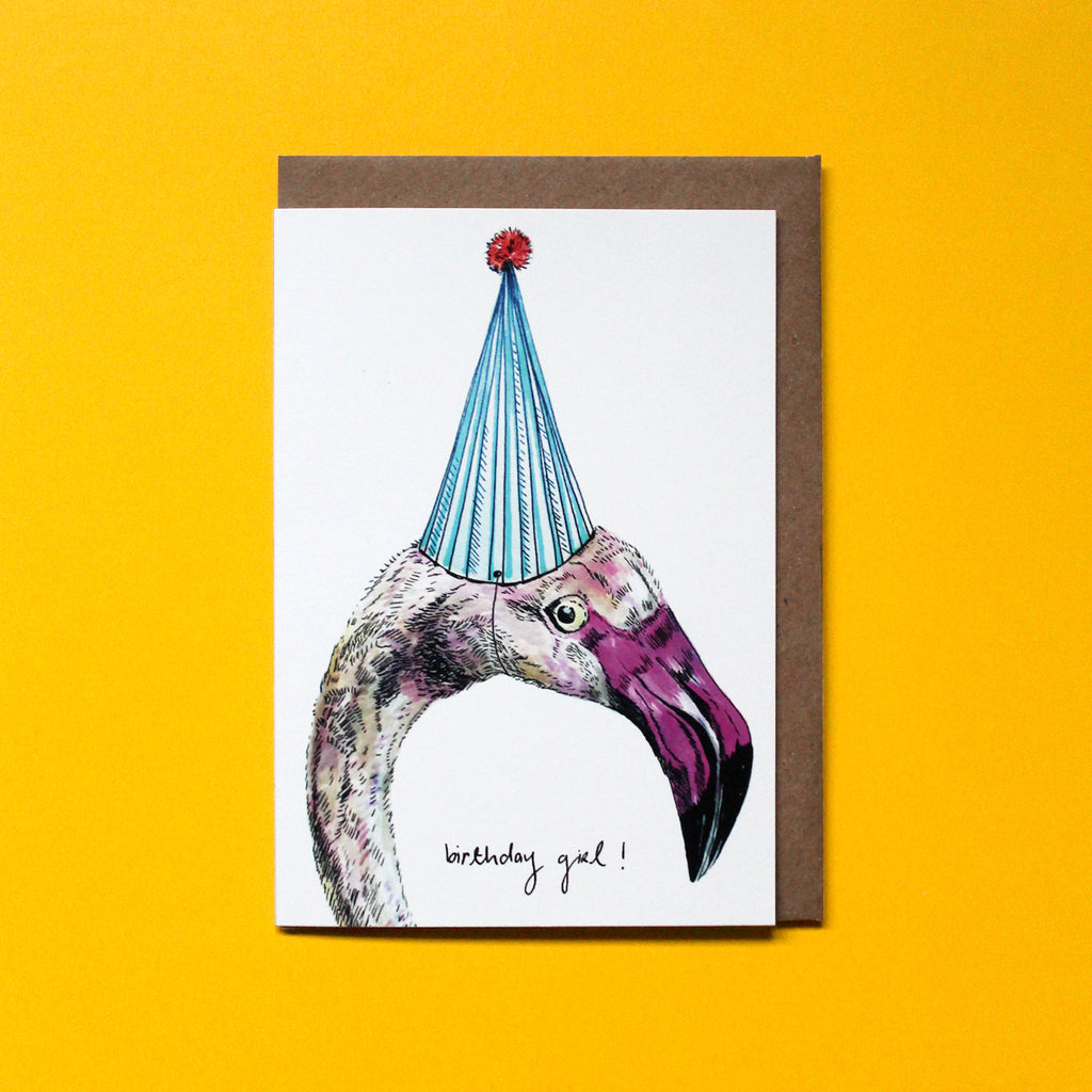 Party Flamingo Card