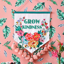 Load image into Gallery viewer, PRE-ORDER Grow Kindness Floral Embroidered Wall Hanging