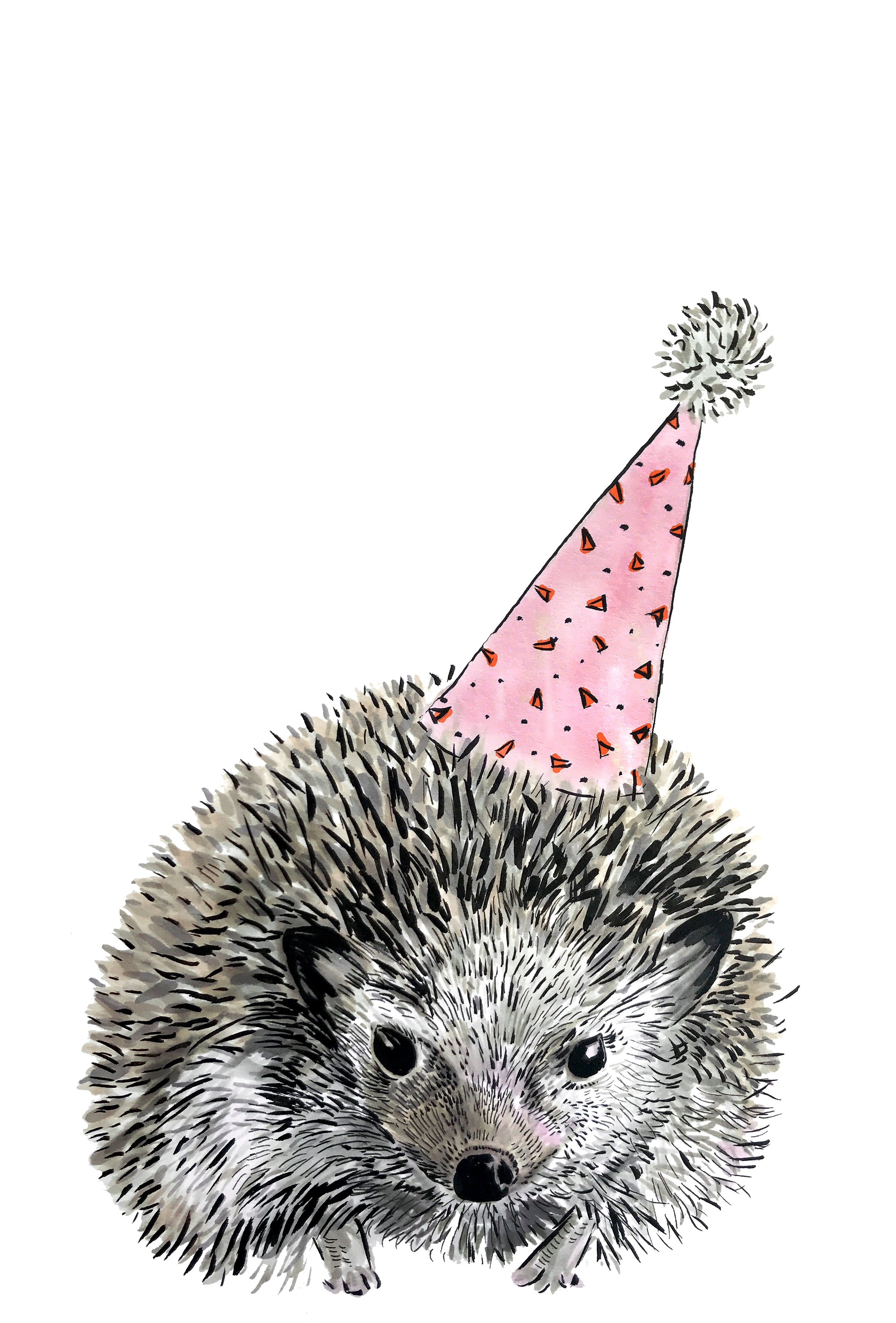 Party Hedgehog Print