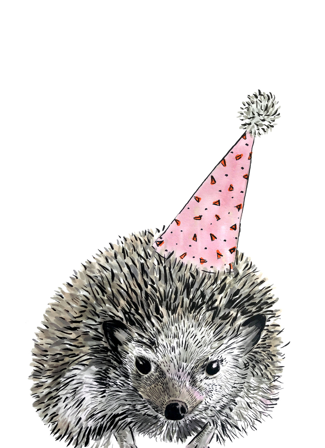 Party Hedgehog Giclée Print