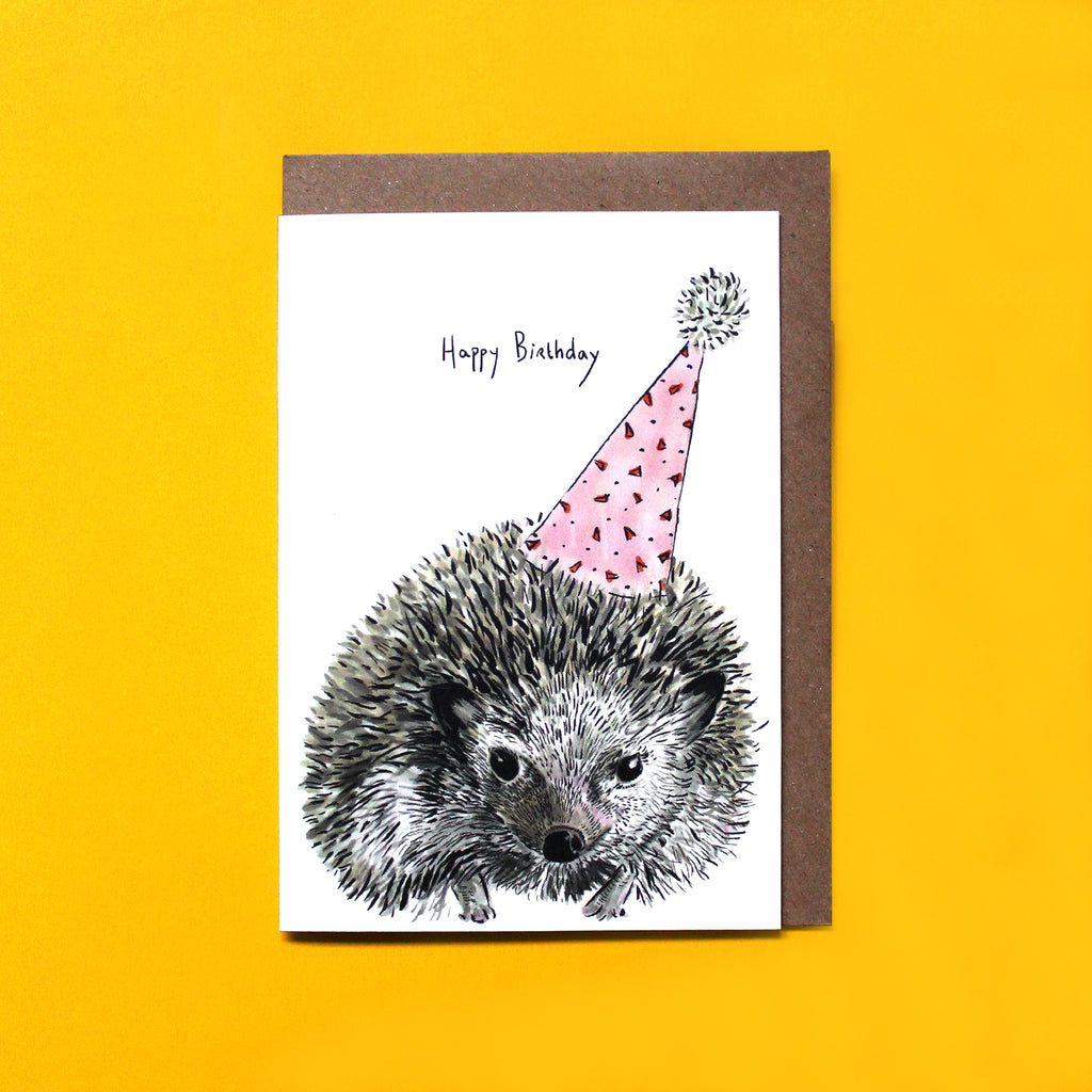 Party Hedgehog Card