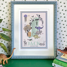 Load image into Gallery viewer, Personalised Letter 'J' Giclée Print