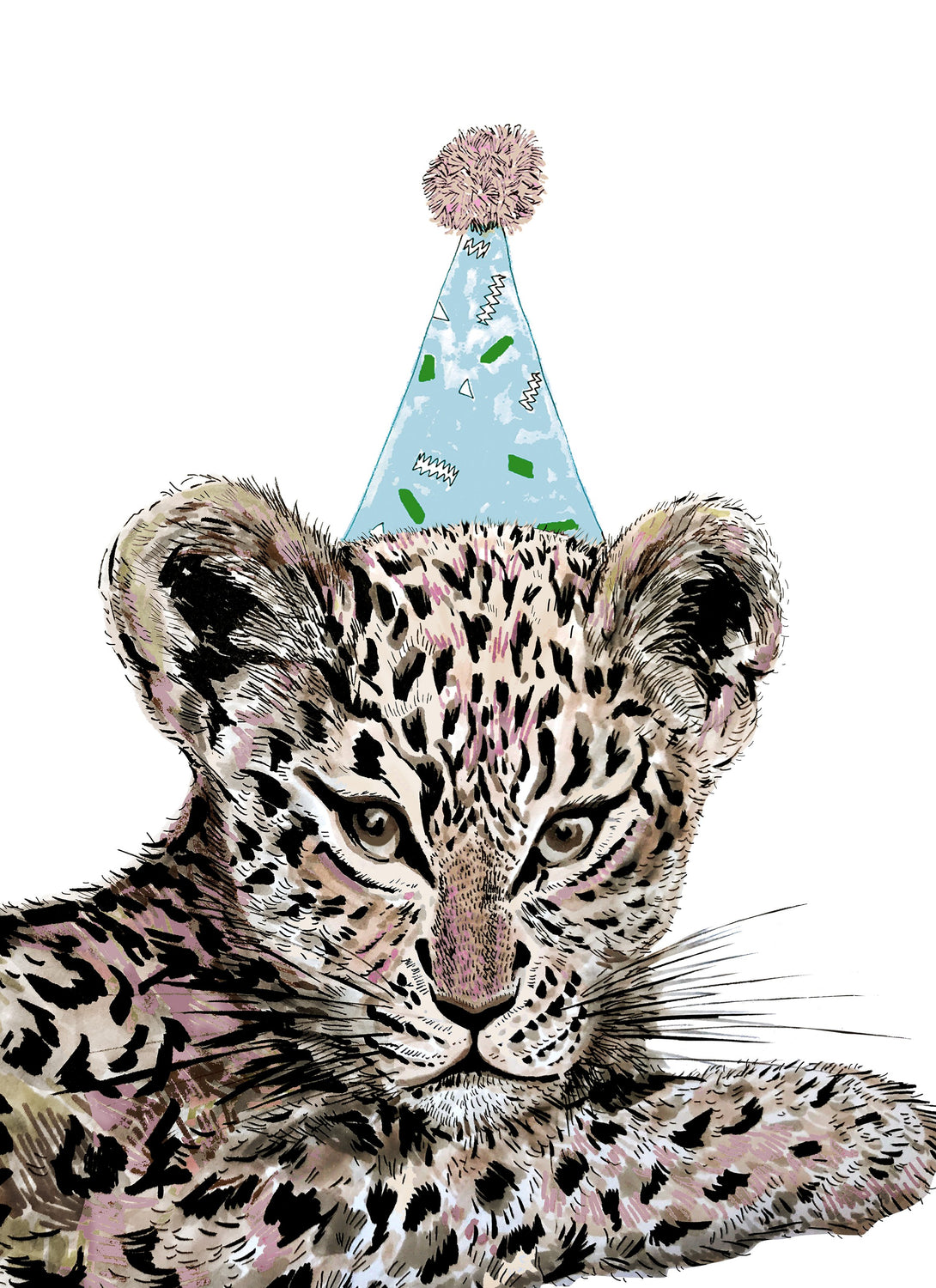 Party Leopard Giclée Print