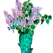 Load image into Gallery viewer, Lilacs in Cactus Vase Giclée Print
