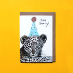Party Leopard Card