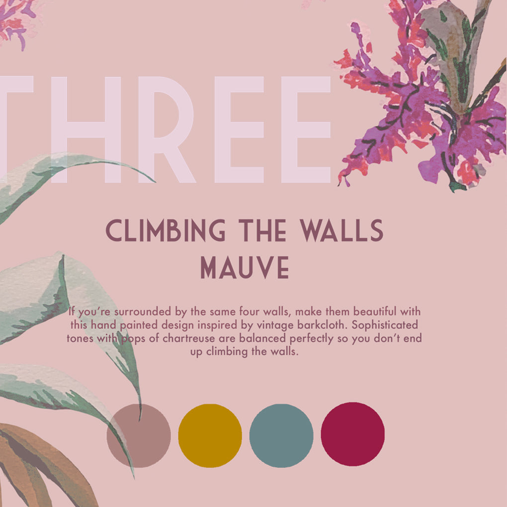Climbing The Walls Mauve Wallpaper Roll