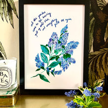 Load image into Gallery viewer, PERSONALISED NHS Blue Floral Study Giclée Print