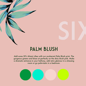 Palm Blush Wallpaper Roll
