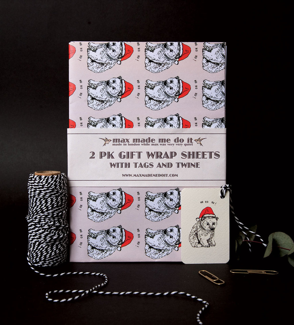 Polar Bear Wrapping Paper Pack