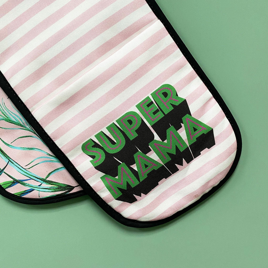 Super Mama Oven Glove, Apron & Tea Towel Gift Set