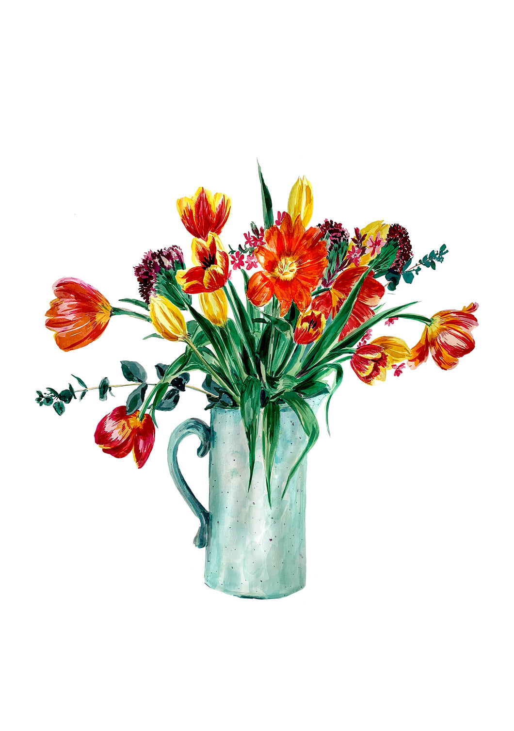 Tulips To Make You Smile Giclée Print