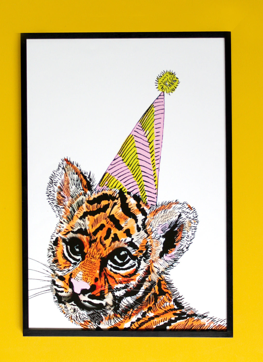 Party Tiger Giclée Print