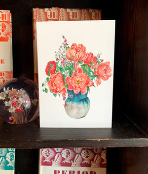 Pack Of 6 Assorted Floral Cards