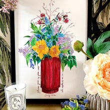 Load image into Gallery viewer, Flowers From My Garden Giclée Print