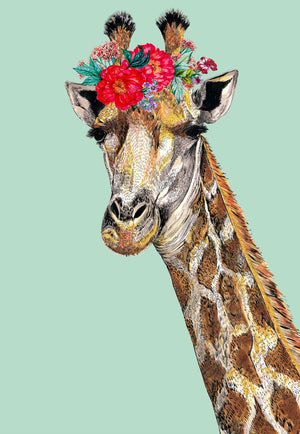 Giraffe Floral Headdress Green