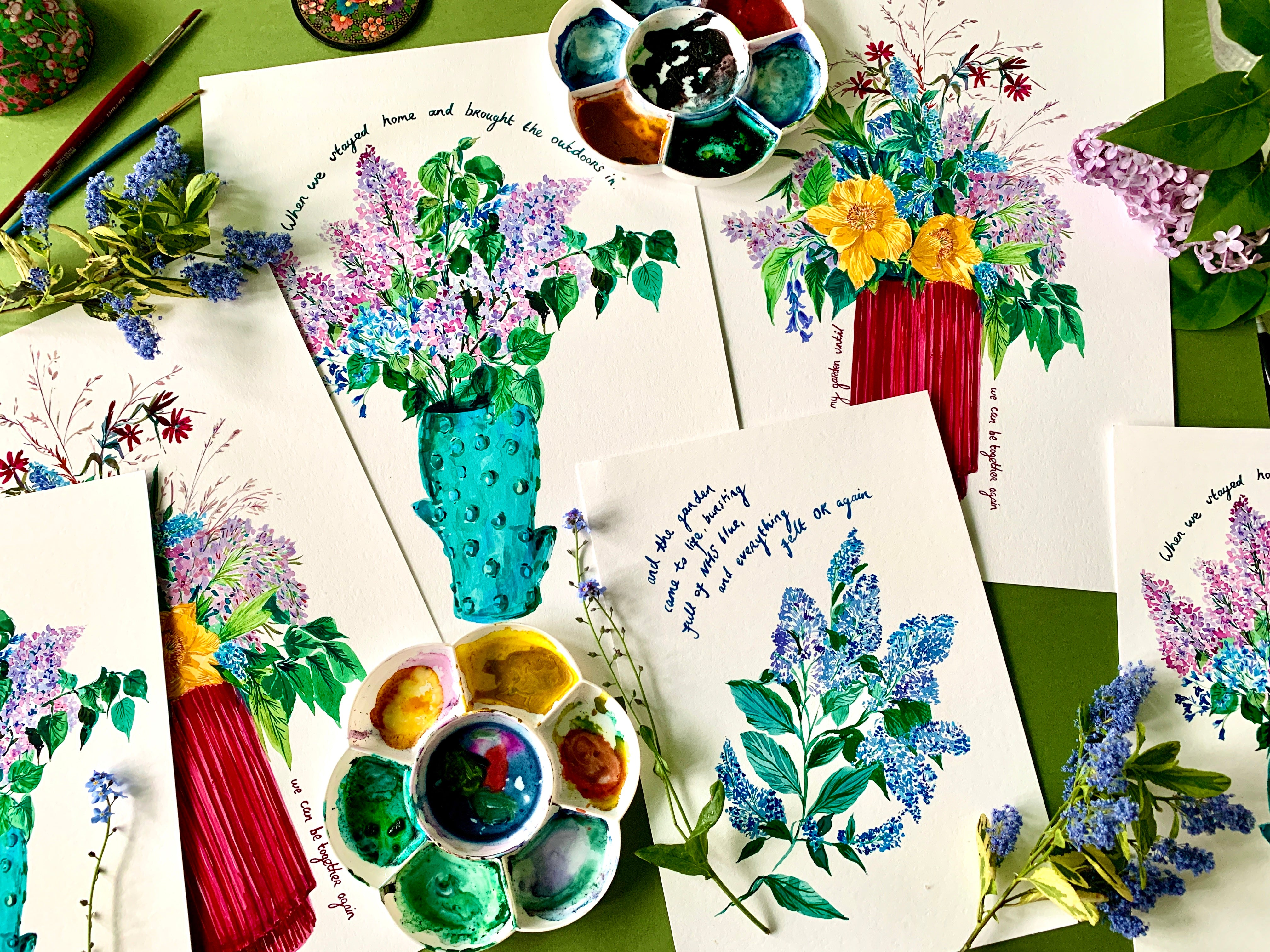 PERSONALISED Flowers From My Garden Giclée Print
