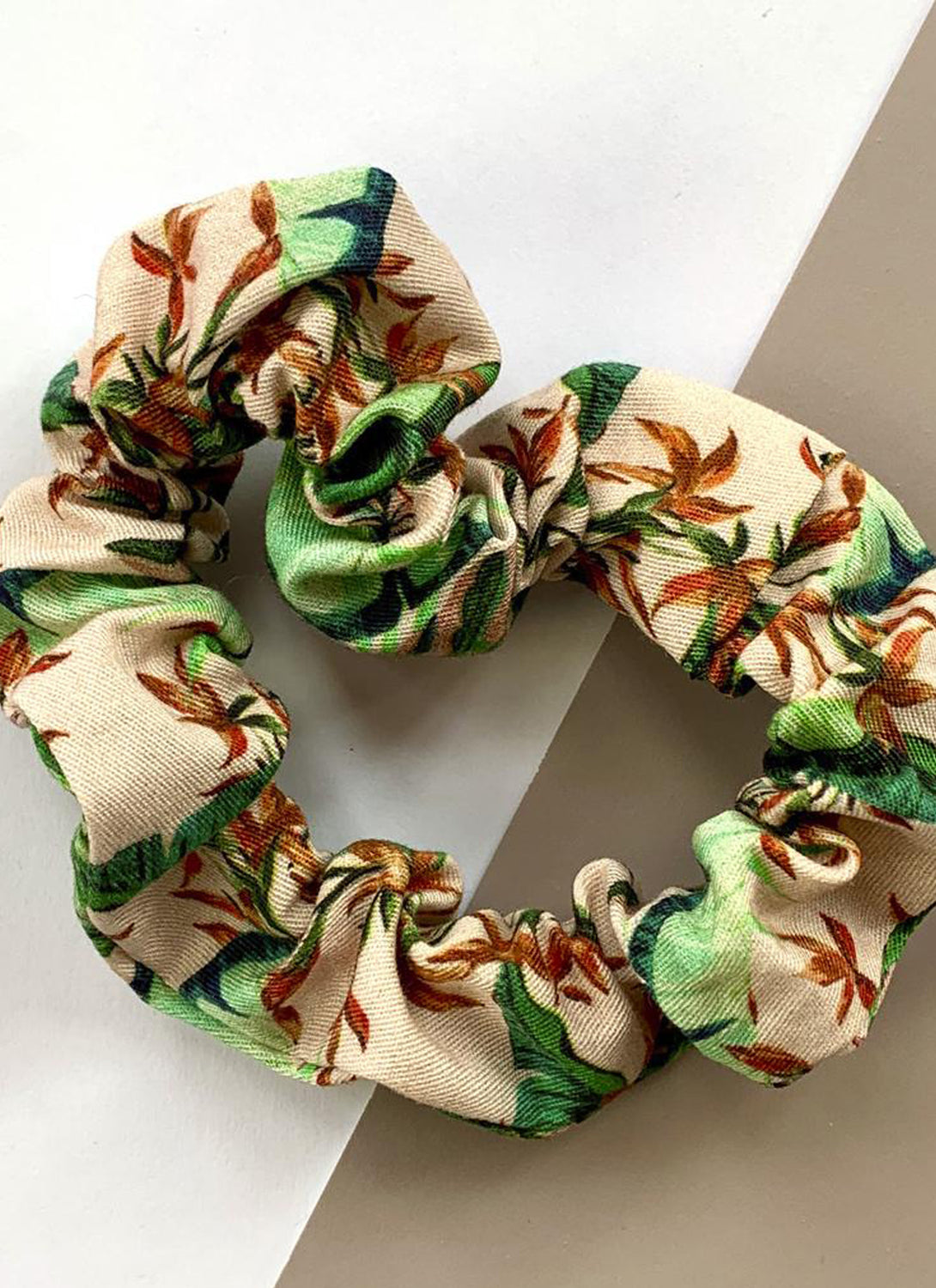Cotton Scrunchie Dartmouth Tropical in Blush