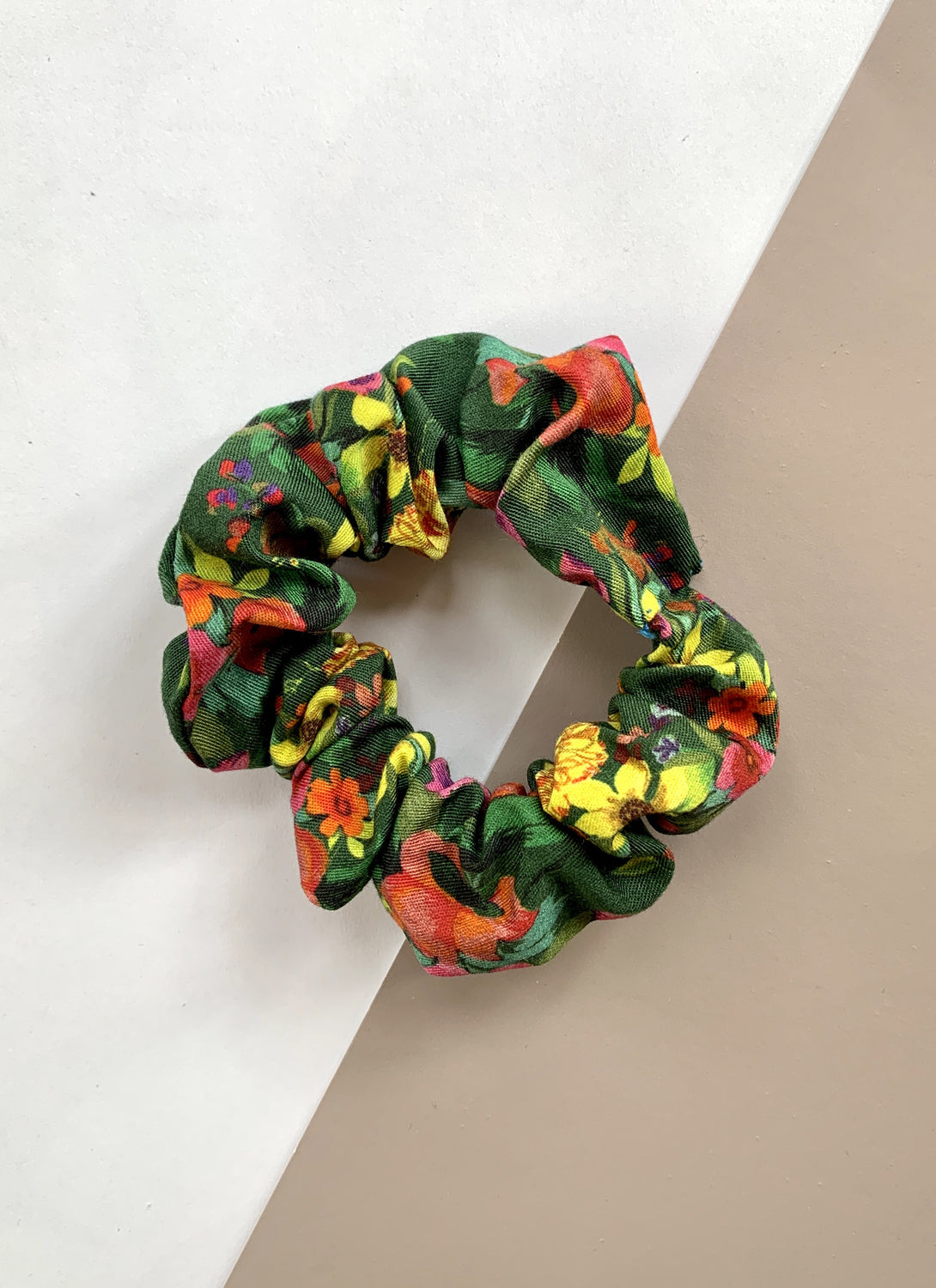Cotton Scrunchie Forest Hill Floral