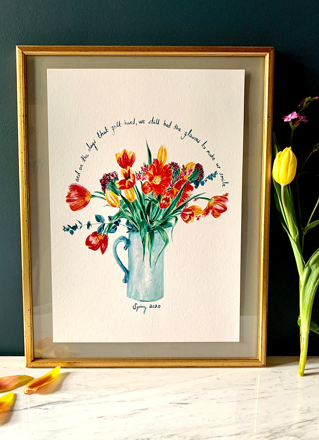 PERSONALISED Tulips To Make You Smile Giclée Print