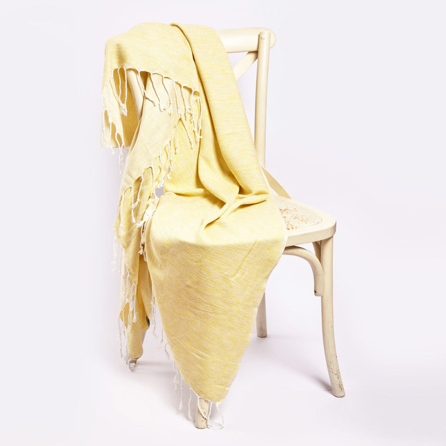 Yalova Ultra Soft Marbled Blanket Throw - Yellow