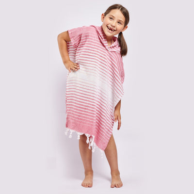 Ayvlik Eco-friendly Poncho Made 100% From Upcycled Cotton Pink