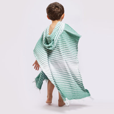Ayvalik Hooded Poncho - Green