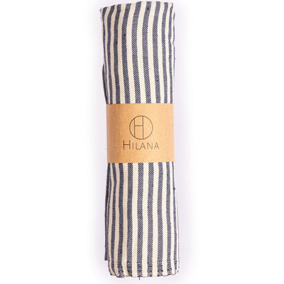 Fethiye Striped Towel - Navy Blue