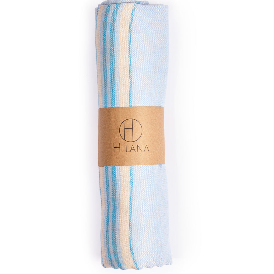 ANTALYA STRIPED ECO-FRIENDLY SPA / BEACH TOWEL BEIGE